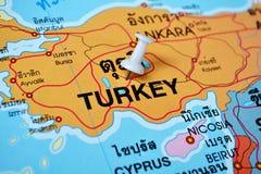 Mappa della Turchia Fotografia Stock