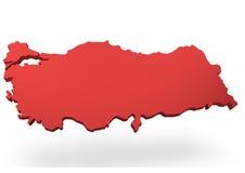 Mappa della Turchia Immagine Stock