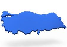 Mappa della Turchia Immagini Stock