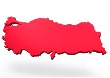 Mappa della Turchia Fotografie Stock Libere da Diritti