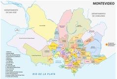 Mappa della vicinanza di Montevideo Fotografia Stock