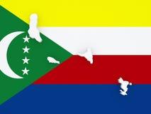 Mappa delle Comore Fotografia Stock Libera da Diritti