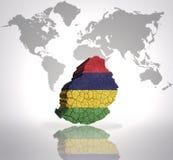 Mappa delle Mauritius Fotografie Stock Libere da Diritti