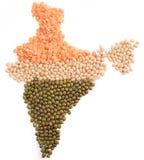Mappa delle spezie dell'India Fotografia Stock