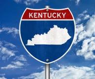 Mappa dello stato del Kentucky fotografia stock