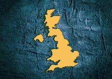 Mappa dello stato della Gran Bretagna nel telaio strutturato del calcestruzzo Fotografie Stock Libere da Diritti
