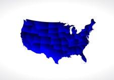 Mappa dello stato di U.S.A. Fotografie Stock Libere da Diritti