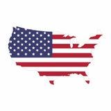Mappa dello stato unito dell'America Fotografie Stock