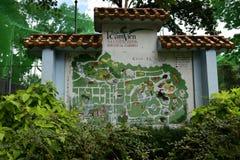 Mappa dello zoo di Saigon Immagine Stock Libera da Diritti