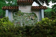 Mappa dello zoo di Saigon Immagini Stock Libere da Diritti