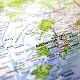 Mappa di Anchorage Immagini Stock Libere da Diritti