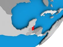 Mappa di Belize Immagini Stock