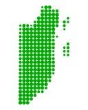 Mappa di Belize Fotografia Stock Libera da Diritti