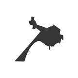 Mappa di Belize City Immagini Stock Libere da Diritti
