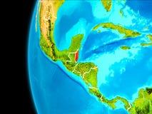 Mappa di Belize nel rosso Fotografie Stock