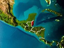 Mappa di Belize su terra Immagini Stock