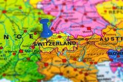 Mappa di Bern Switzerland Immagine Stock Libera da Diritti
