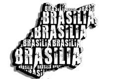 Mappa di Brasilia Fotografia Stock