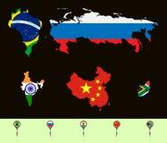 Mappa di Brics royalty illustrazione gratis