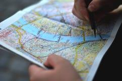 Mappa di Budapest Immagini Stock