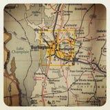 Mappa di Burlington Fotografia Stock Libera da Diritti
