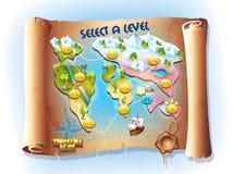 Mappa di caccia del tesoro Immagine Stock