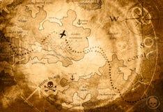 Mappa di caccia di tesoro royalty illustrazione gratis