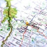 Mappa di Calgary Fotografia Stock Libera da Diritti