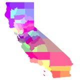Mappa di California Immagini Stock