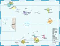 Mappa di Capo Verde - illustrazione dettagliata di vettore Fotografie Stock