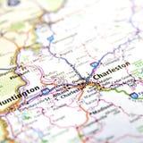 Mappa di Charleston Fotografia Stock Libera da Diritti