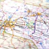 Mappa di Charlotte Immagini Stock