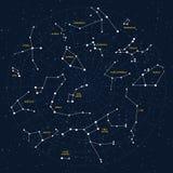 Mappa di cielo Immagine Stock Libera da Diritti