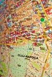 Mappa di Cluj-Napoca Fotografia Stock