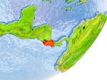 Mappa di Costa Rica su terra Immagini Stock Libere da Diritti