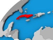 Mappa di Cuba nel rosso royalty illustrazione gratis