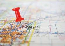 Mappa di Denver Fotografia Stock