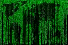Mappa di Digital della matrice del mondo Fotografia Stock