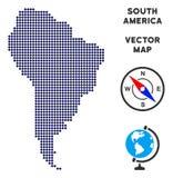 Mappa di Dot South America illustrazione di stock