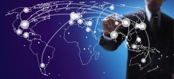 Mappa di economie mondiali Fotografia Stock