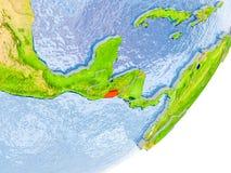 Mappa di El Salvador su terra Immagine Stock Libera da Diritti