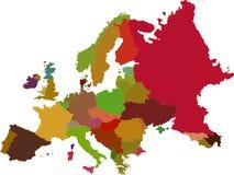 Mappa di Europa Fotografia Stock