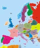 Mappa di Europa Fotografie Stock Libere da Diritti