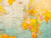 Mappa di Europa e dell'Africa Fotografie Stock Libere da Diritti