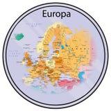Mappa di Europa su una moneta Fotografie Stock Libere da Diritti