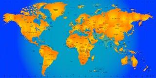 Mappa di fuso orario Fotografie Stock