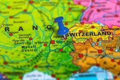 Mappa di Ginevra Svizzera Immagini Stock