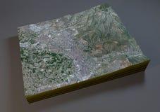 Mappa di Granada, vista satellite, Spagna Immagine Stock Libera da Diritti