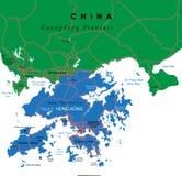 Mappa di Hong Kong Fotografia Stock