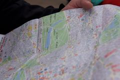 Mappa di Hyde Park fotografia stock